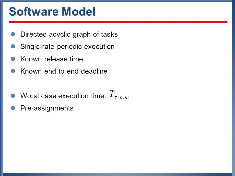 Software Model Directed acyclic graph of tasks
