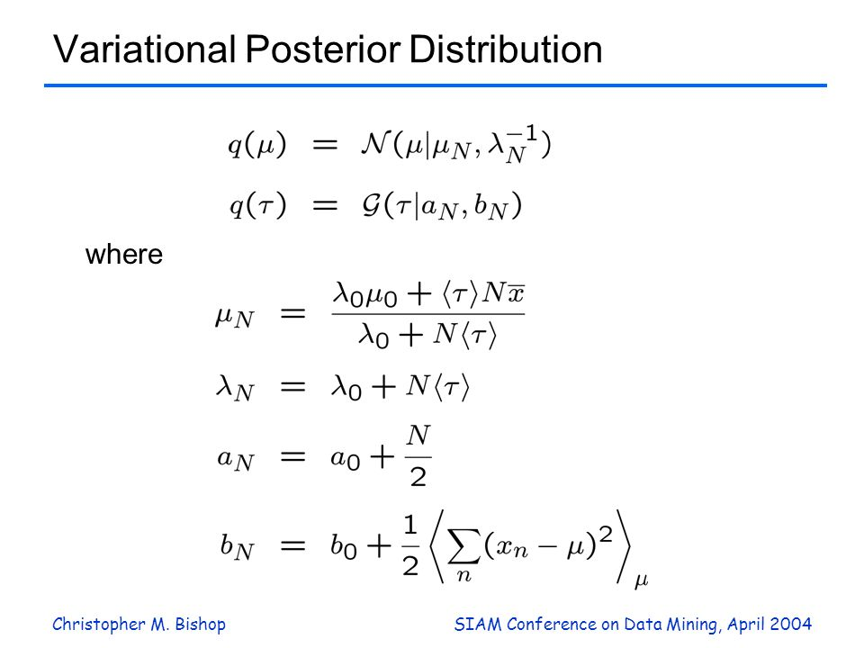 Variational Posterior Distribution