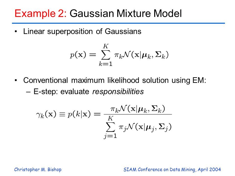 Example 2: Gaussian Mixture Model