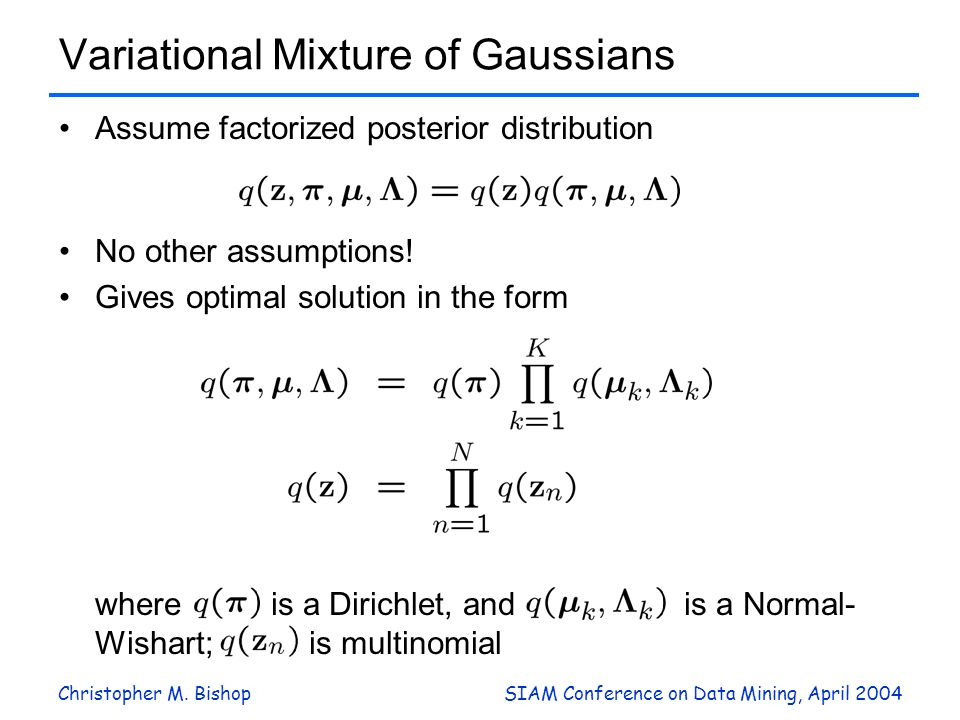 Variational Mixture of Gaussians