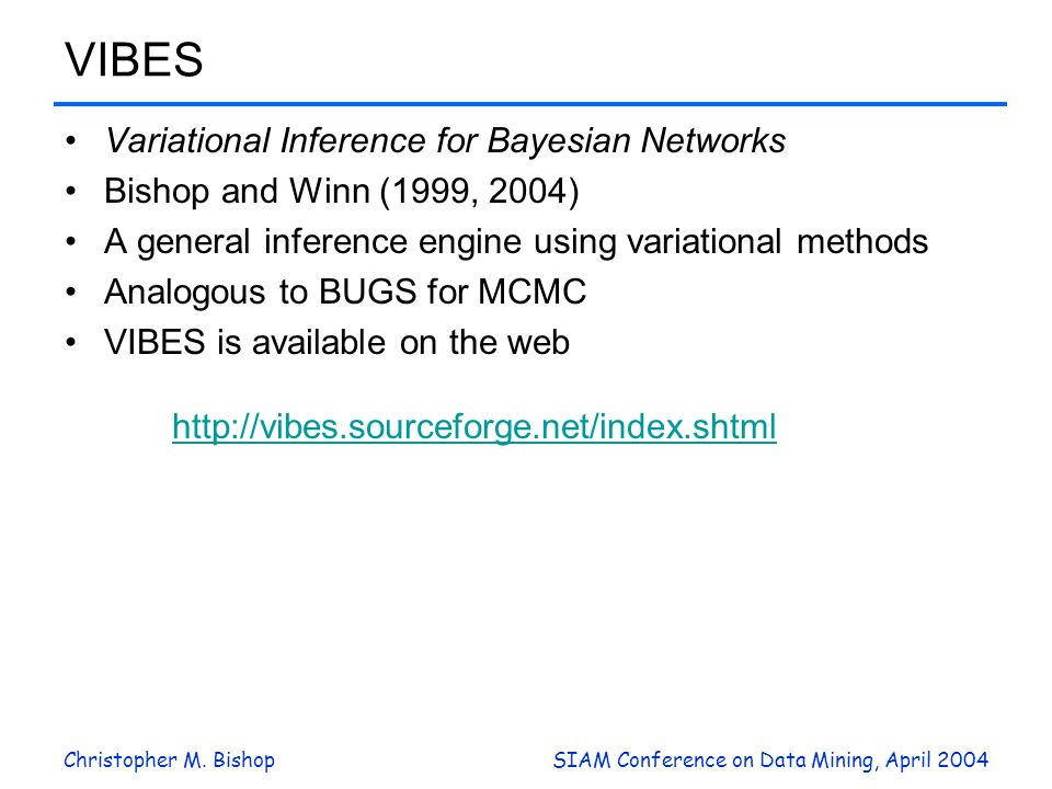 VIBES Variational Inference for Bayesian Networks