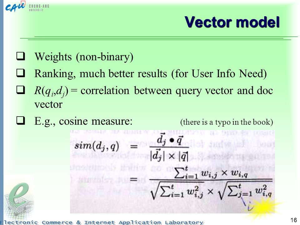Vector model Weights (non-binary)