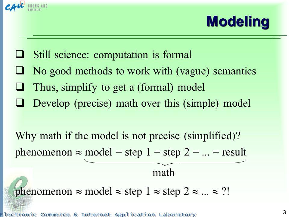 Modeling Still science: computation is formal