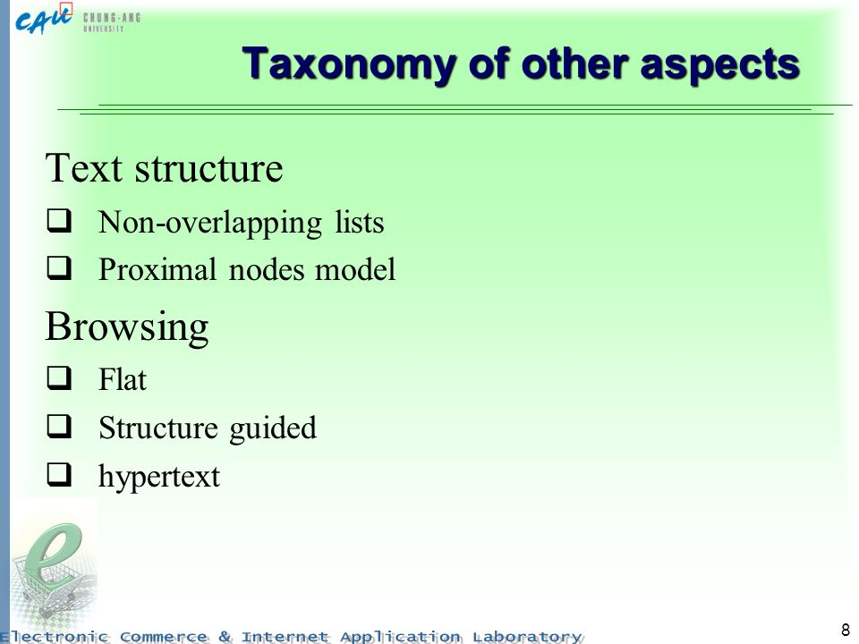 Taxonomy of other aspects