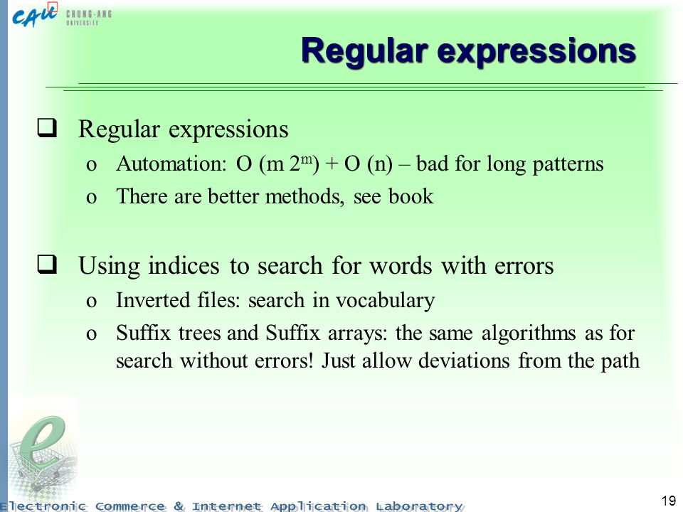 Regular expressions Regular expressions