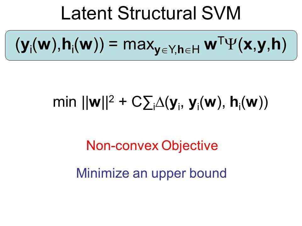(yi(w),hi(w)) = maxyY,hH wT(x,y,h)