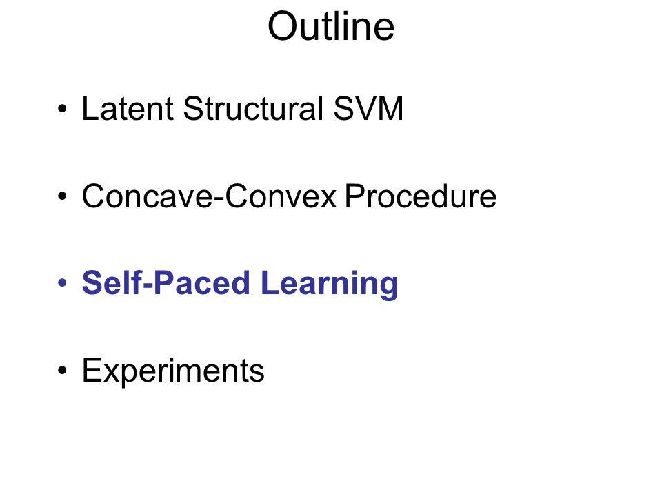 Outline Latent Structural SVM Concave-Convex Procedure