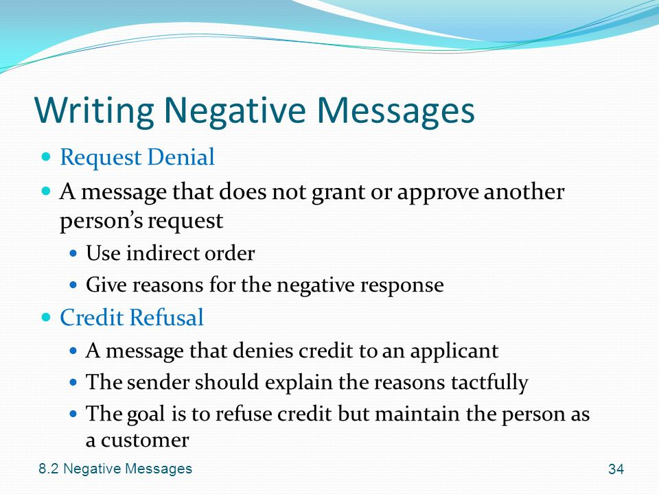 writing indirect messages Regardless whether you determine a direct or indirect approach is warranted,   a written message may certainly be part of the desired approach, but how it is.