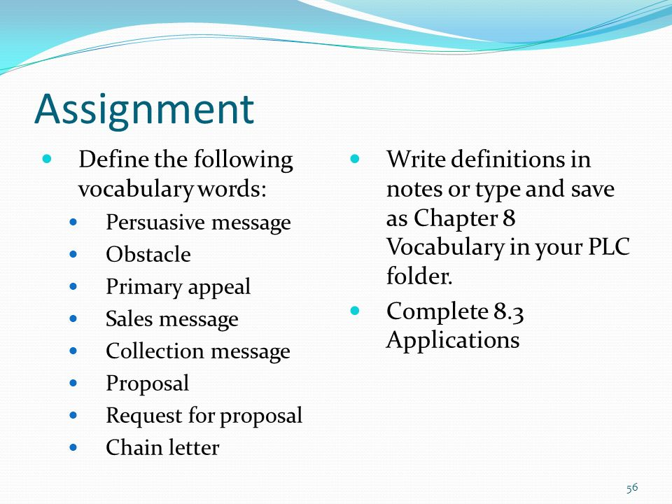 assignment meaning Assignment something that has been assigned, such as a mission or task a position or post to which a person is assigned the act of assigning or state of being assigned.