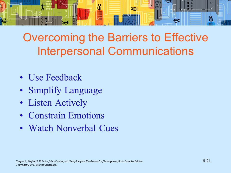 Overcoming the Barriers to Effective Interpersonal Communications