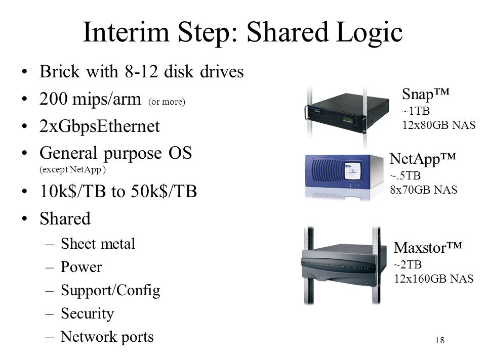 Interim Step: Shared Logic