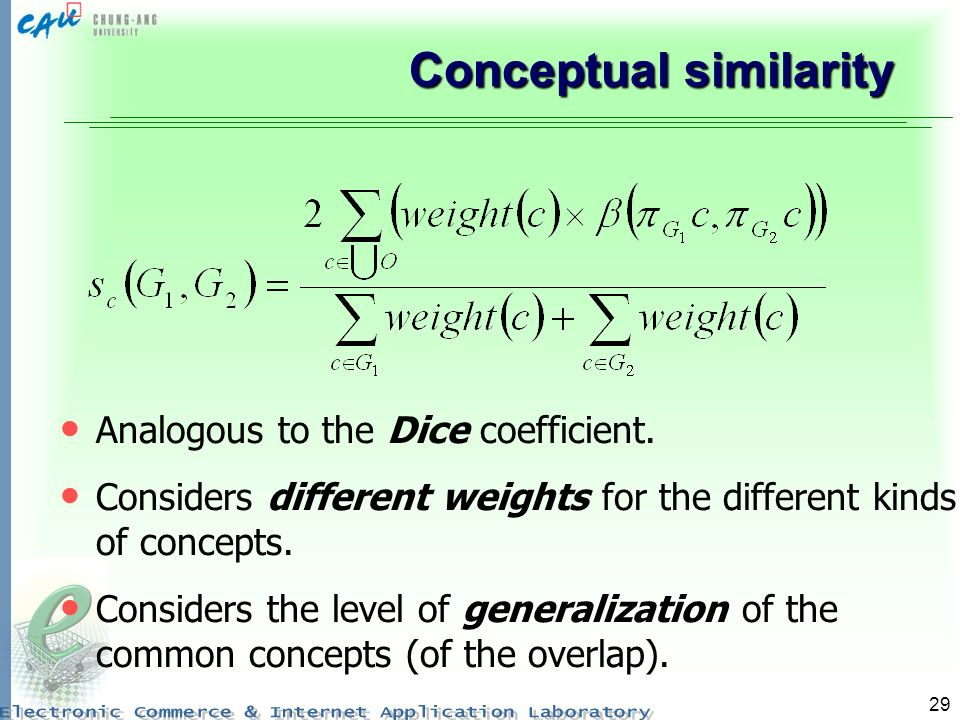 Conceptual similarity