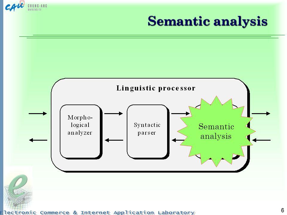 Semantic analysis Semantic analysis