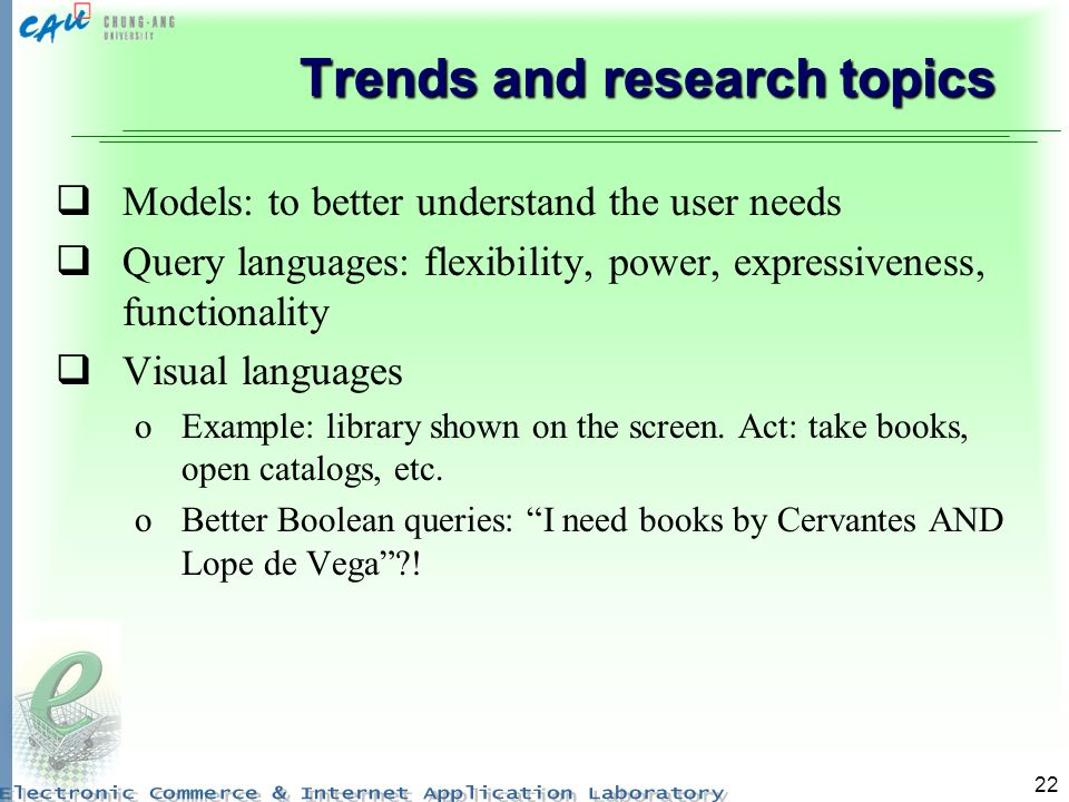 Trends and research topics