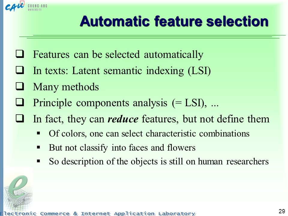 Automatic feature selection