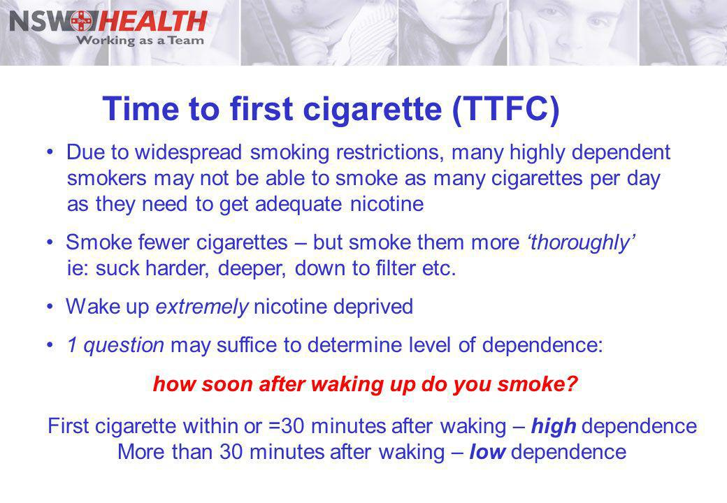 Time to first cigarette (TTFC)