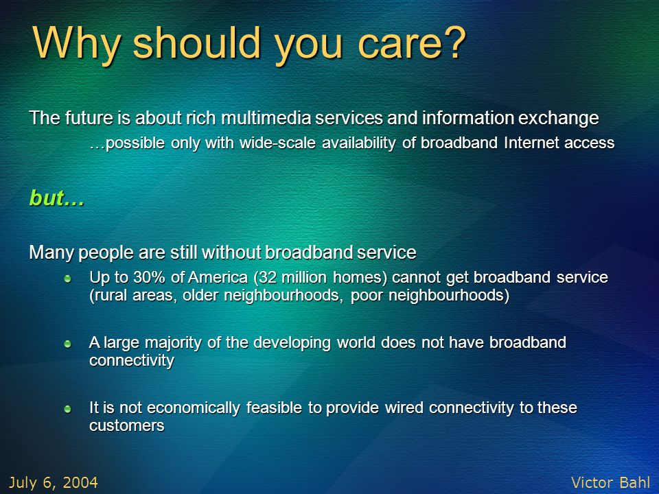 Why should you care but…