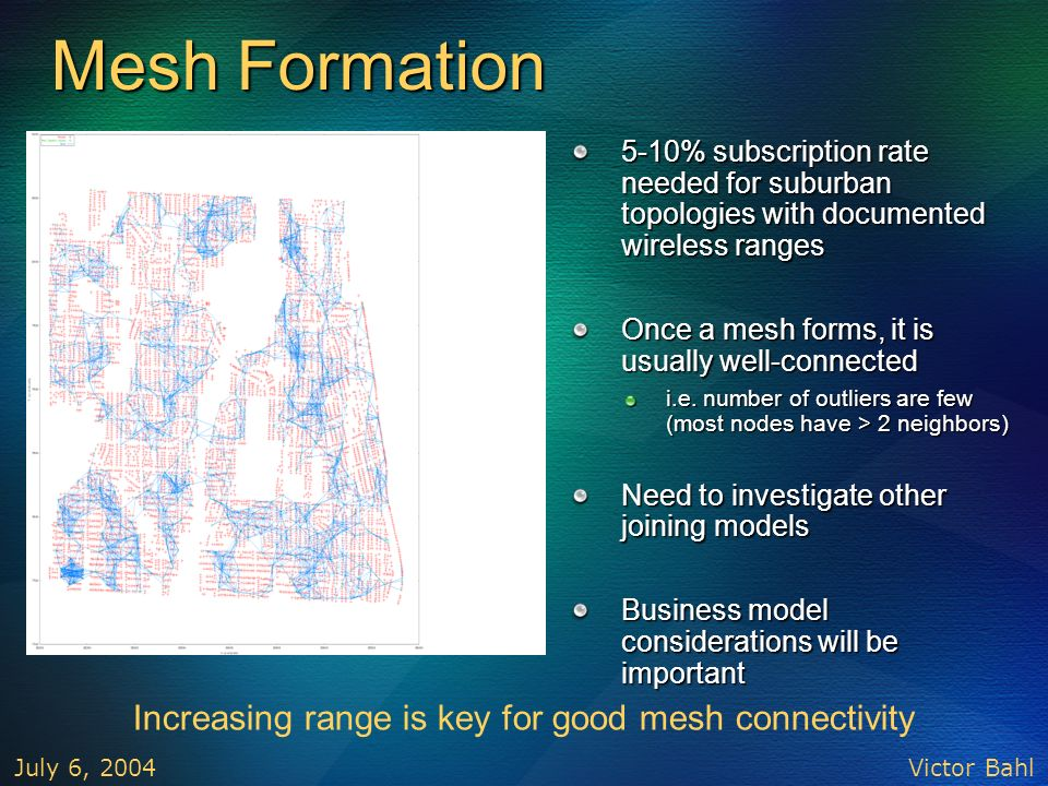 Increasing range is key for good mesh connectivity