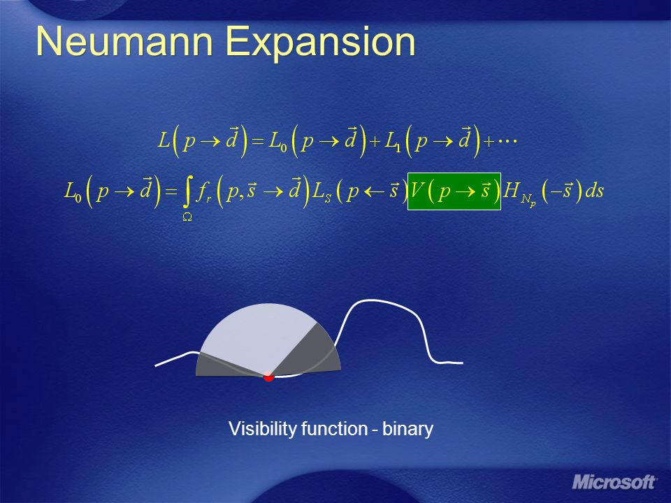Neumann Expansion Visibility function - binary 3/27/2017 10:02 PM