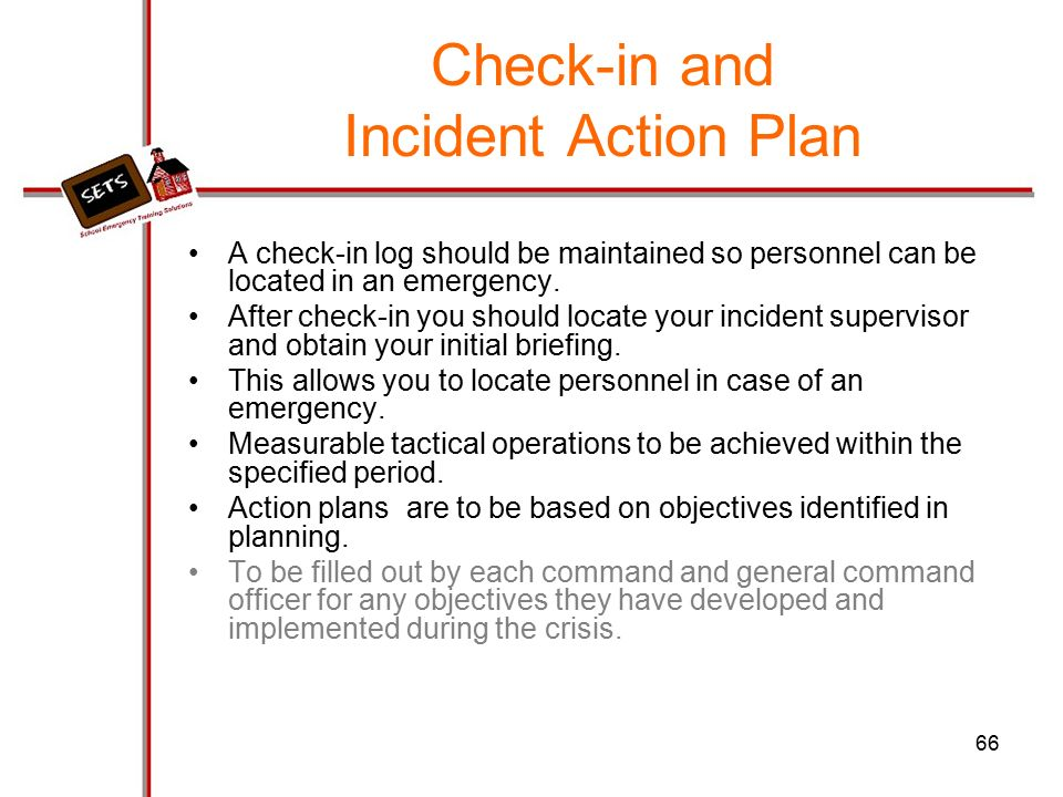 Incident Action Plan  WowcircleTk