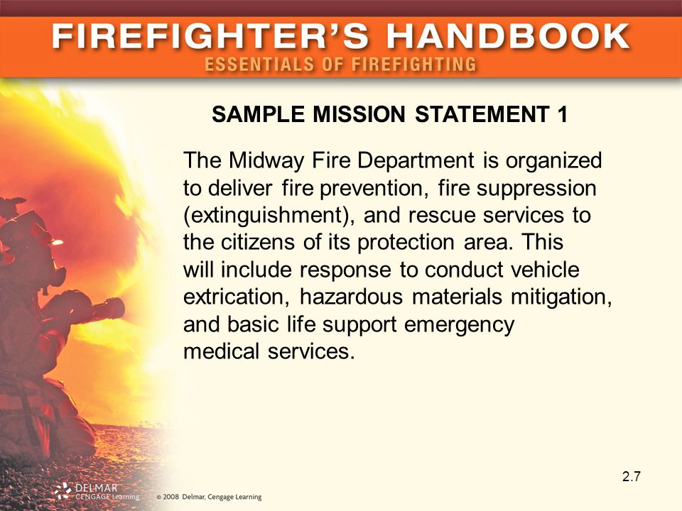 Fire Department Mission Statement Examples Image Collections