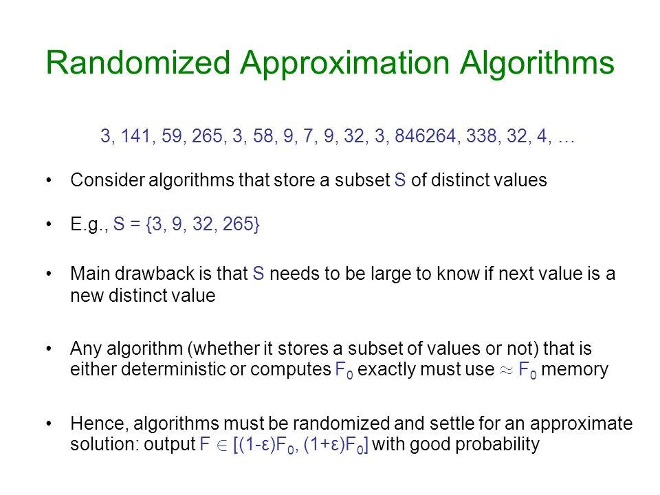 Randomized Approximation Algorithms