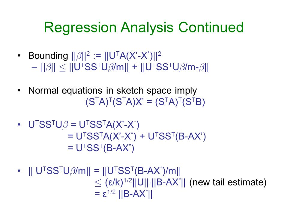 Regression Analysis Continued