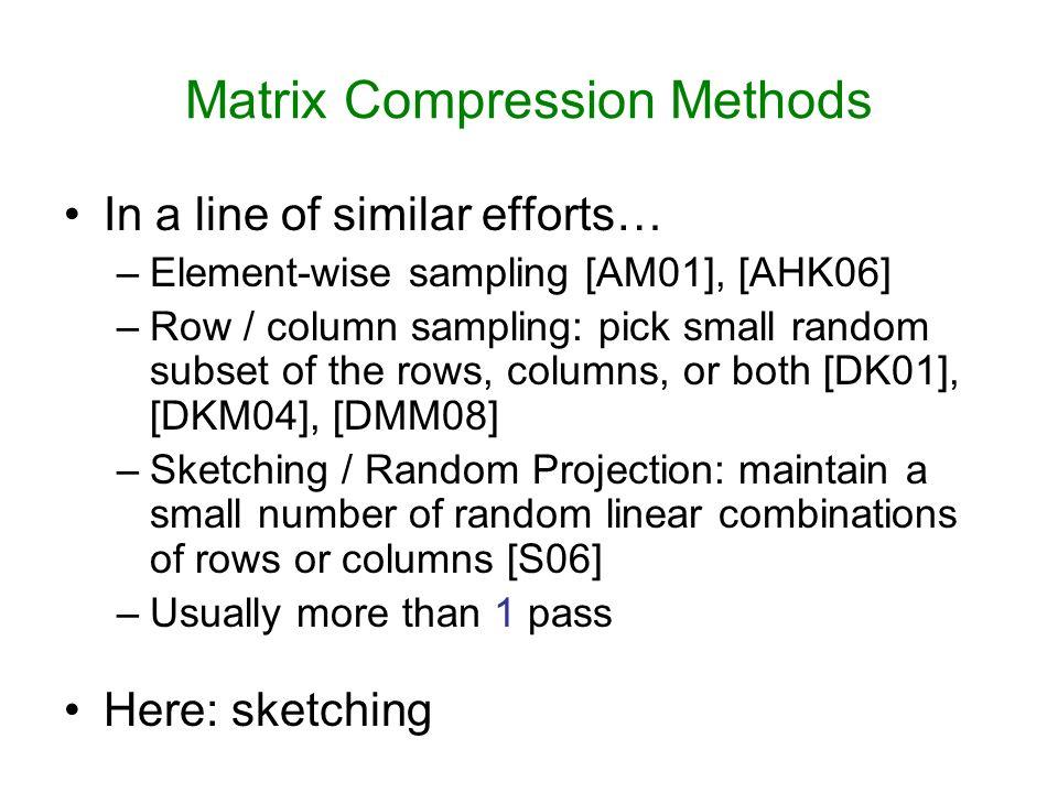 Matrix Compression Methods