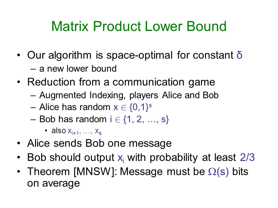 Matrix Product Lower Bound
