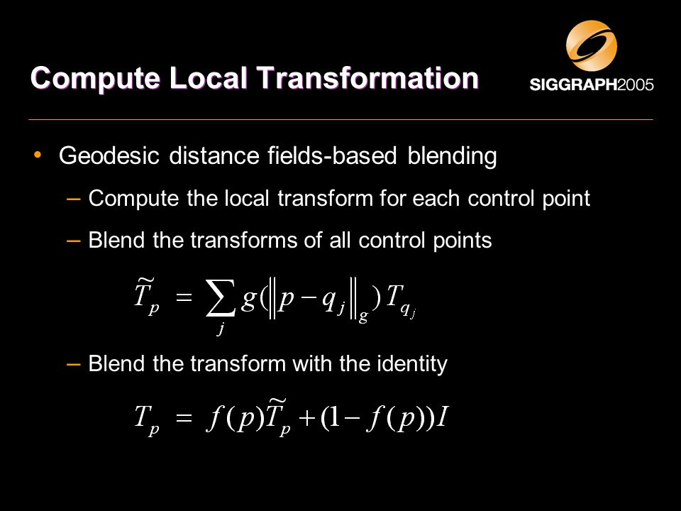 Compute Local Transformation
