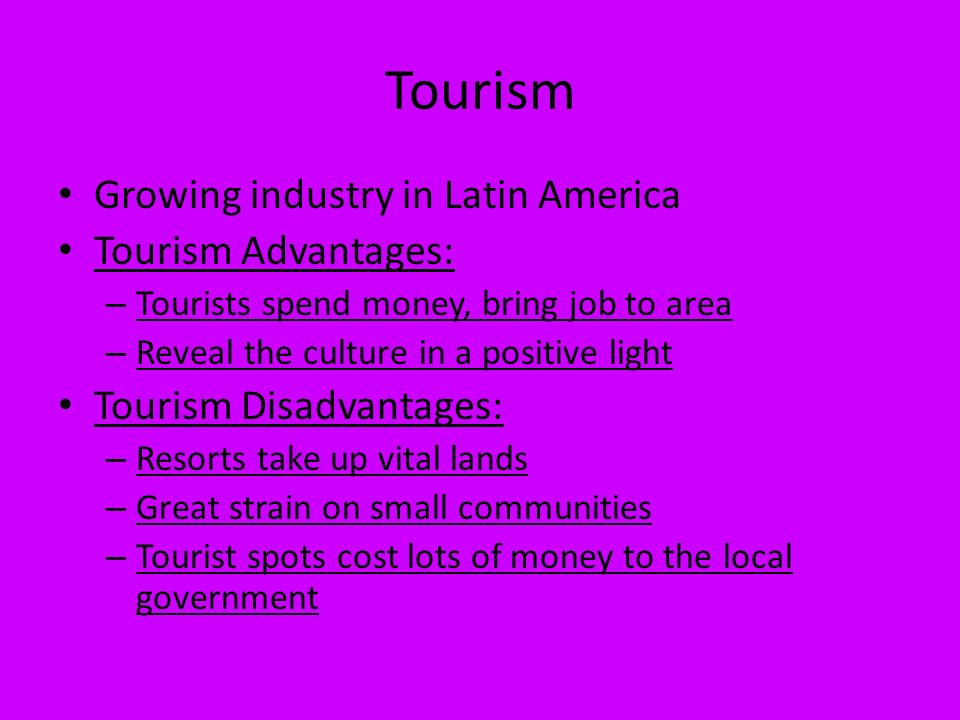 Disadvantages of tourism in spain