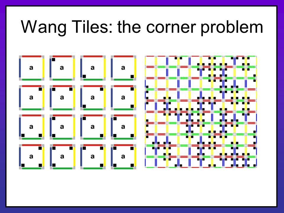 Wang Tiles: the corner problem