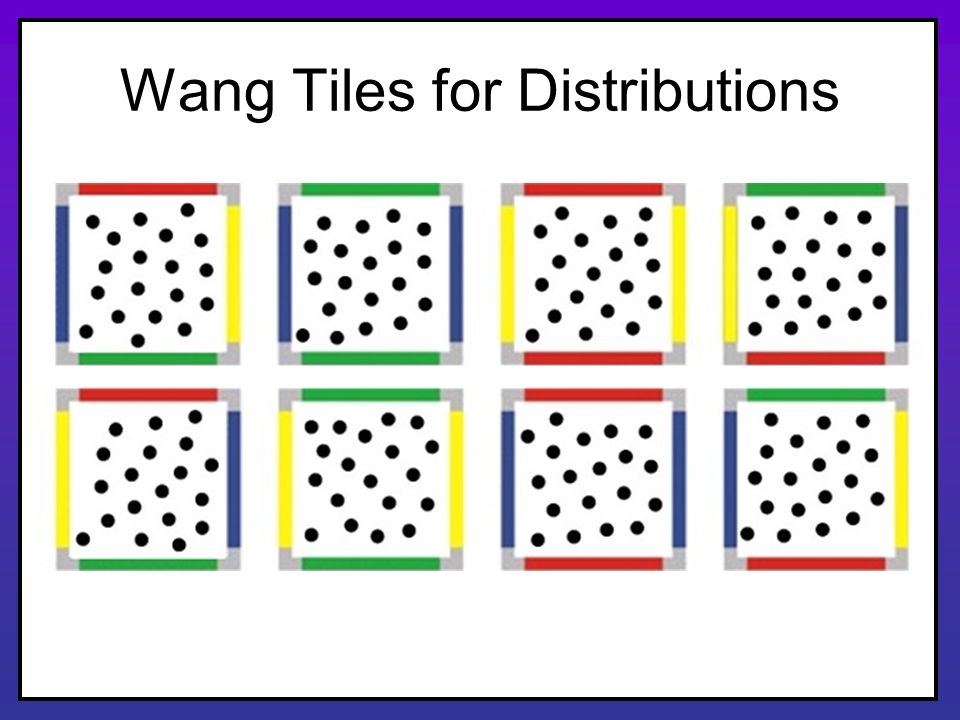 Wang Tiles for Distributions