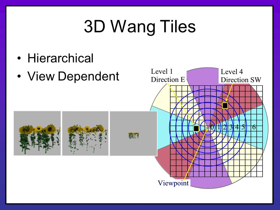 3D Wang Tiles Hierarchical View Dependent