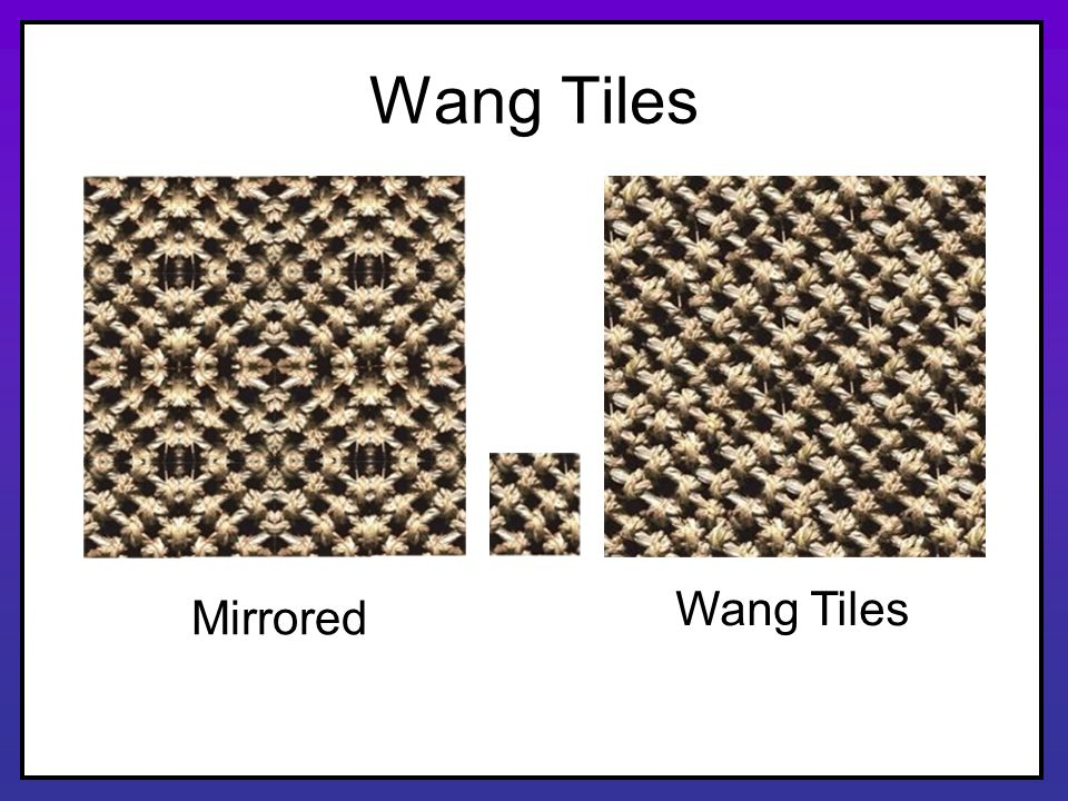 Wang Tiles Wang Tiles Mirrored