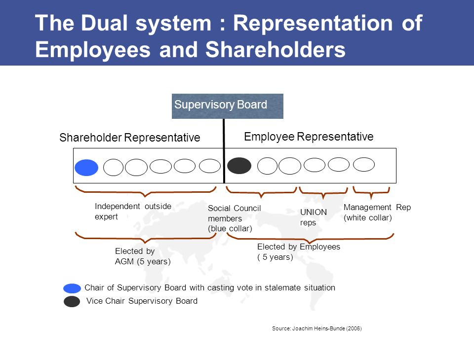 The Dual system : Representation of Employees and Shareholders