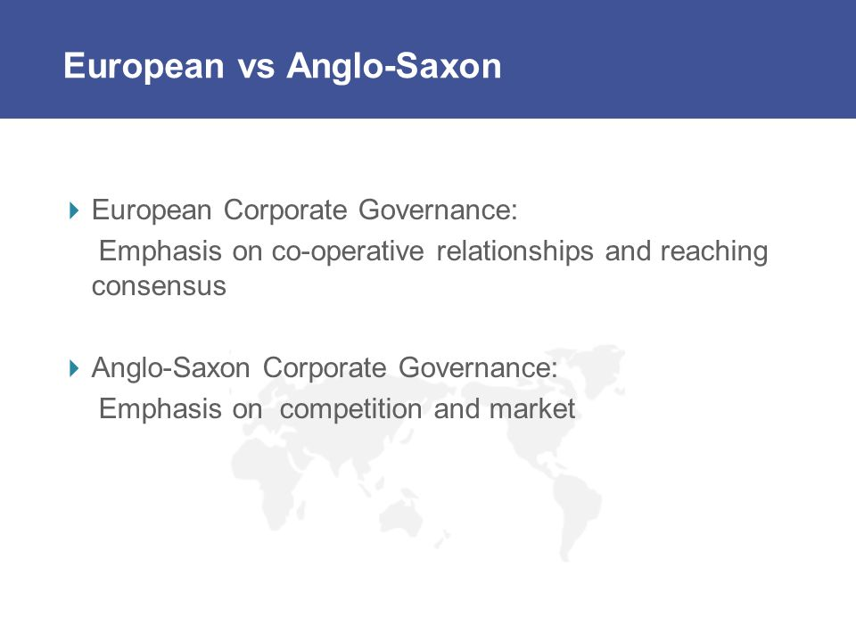 European vs Anglo-Saxon