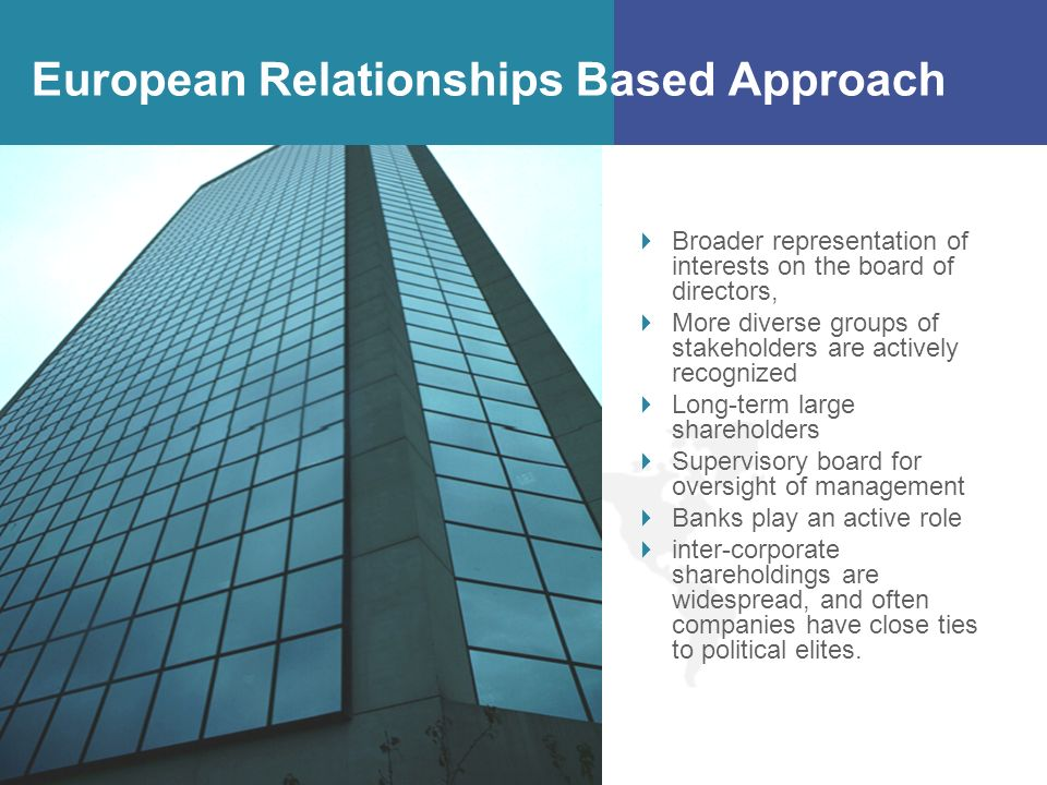 European Relationships Based Approach