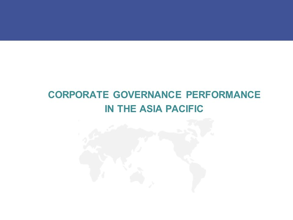 CORPORATE GOVERNANCE PERFORMANCE