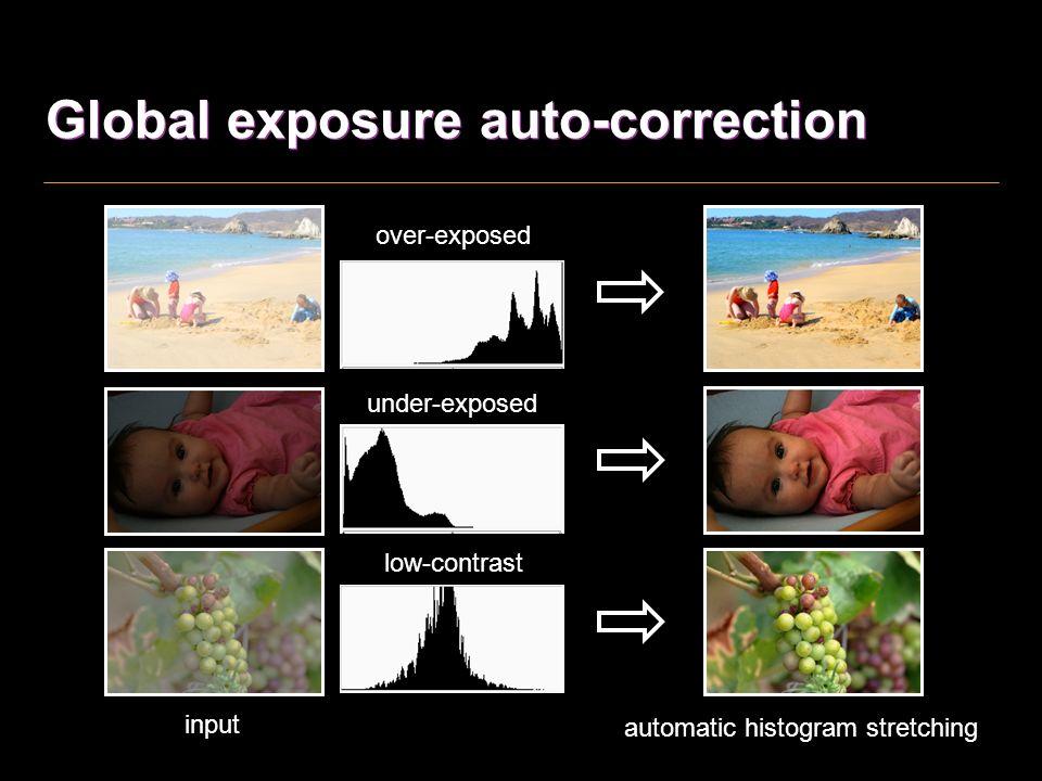 Global exposure auto-correction