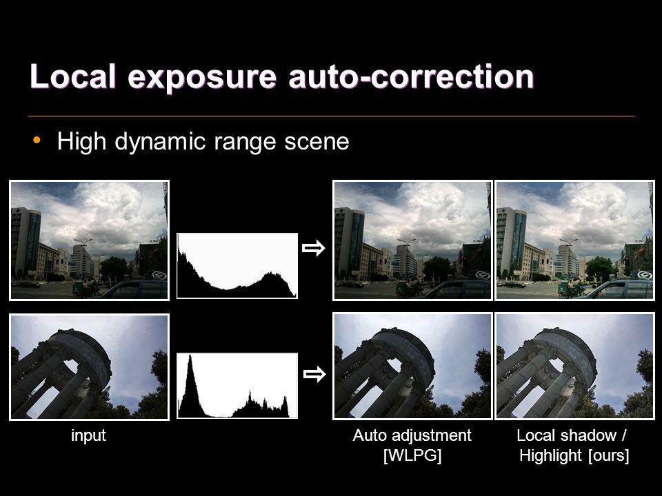 Local exposure auto-correction