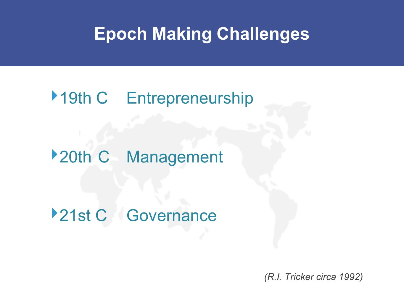 Epoch Making Challenges