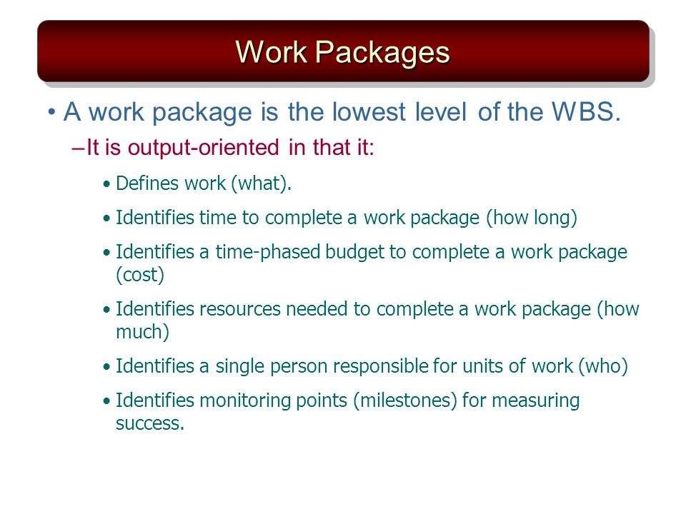 how to remember packages for work