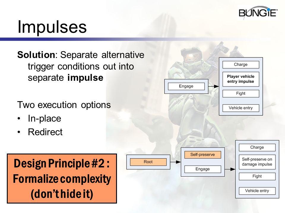 Design Principle #2 : Formalize complexity (don't hide it)