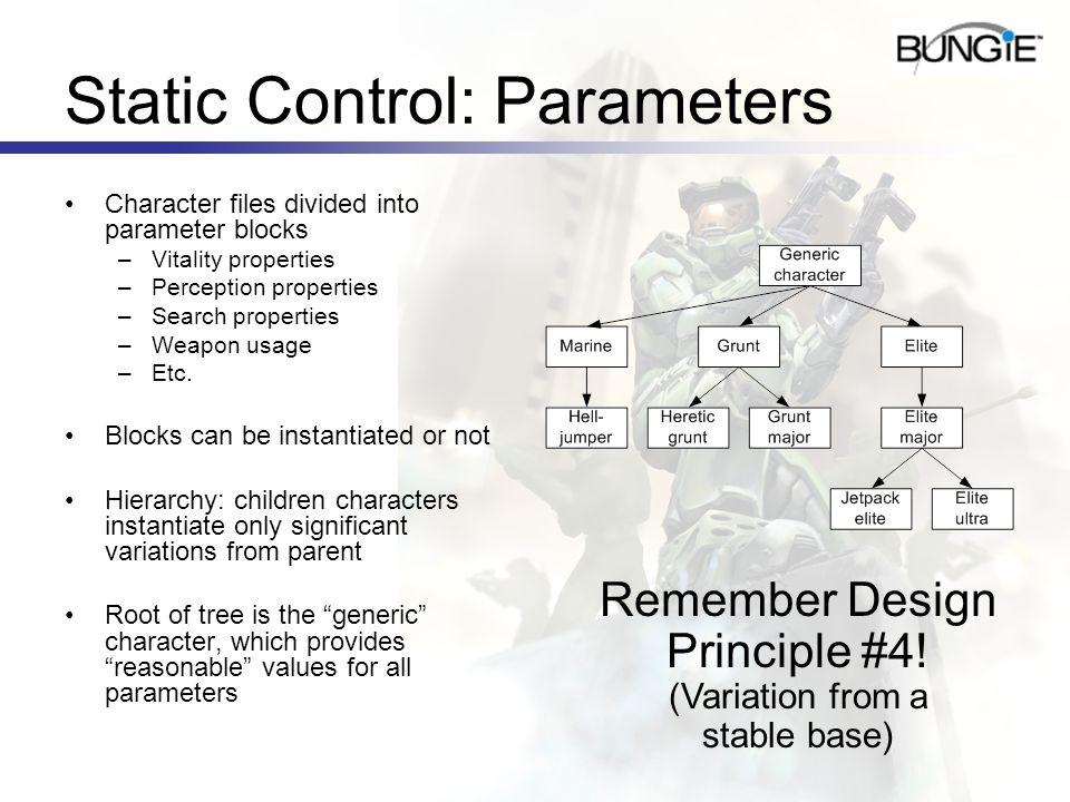 Static Control: Parameters