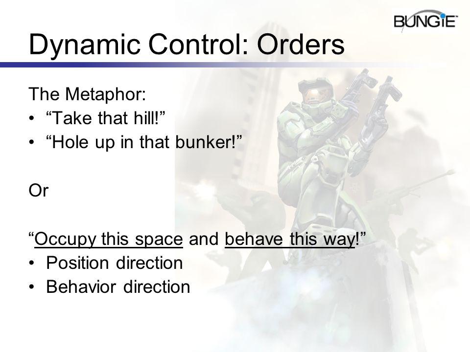 Dynamic Control: Orders