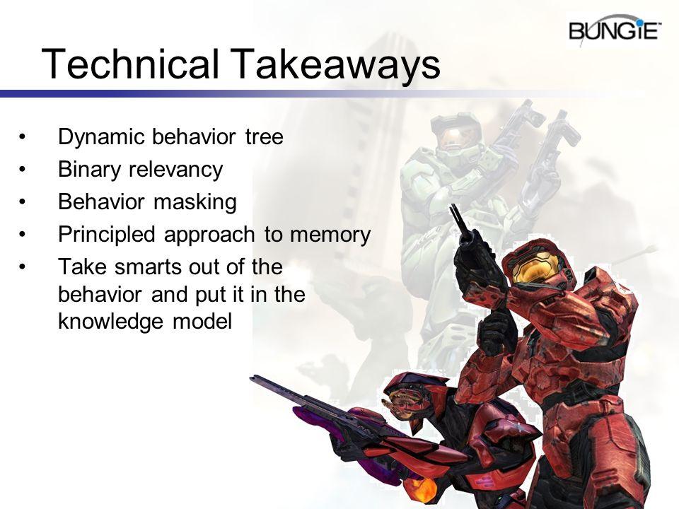 Technical Takeaways Dynamic behavior tree Binary relevancy
