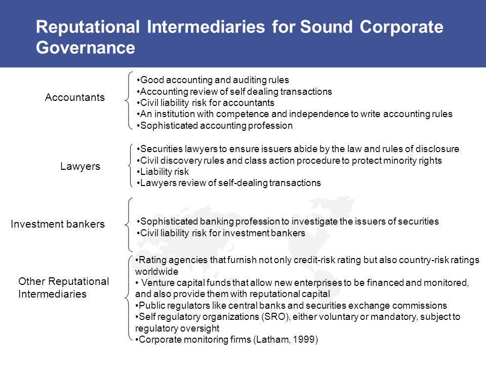 Reputational Intermediaries for Sound Corporate Governance