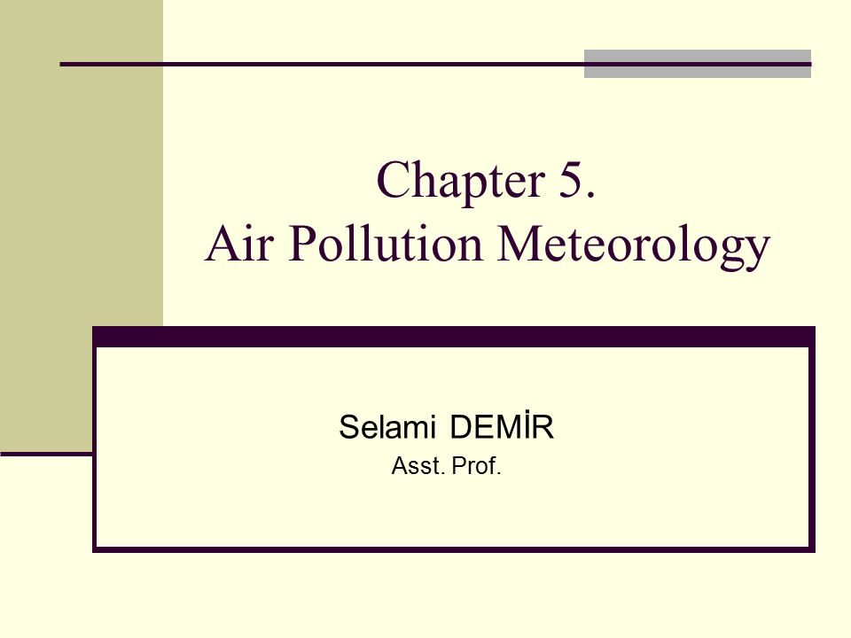 air pollution meteorology and dispersion pdf