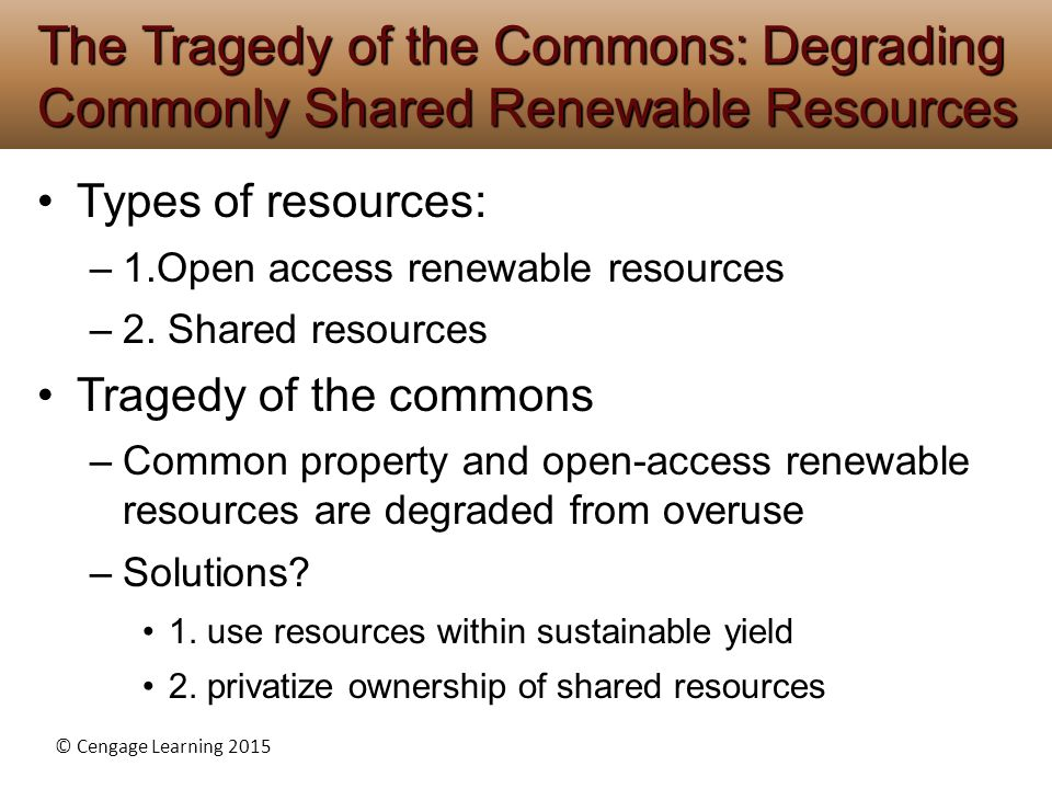 Overuse Of Natural Resources Solutions